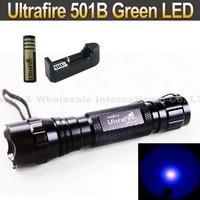 20SET Ultrafire 501B 3W purple light Blue & violet Luxeon 395-410nm UV LED Flashlight+18650 4000MAH Battery +Charger