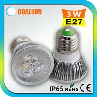 Wholesale 50pcs/lot E27 3W Led spotlight,270lm 3watt Led spot lamp,110V/220V white/warm white Aluminum led bulb lamp