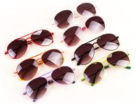 Child Fashion Trendy Colorful star Boys Girls Kids Sunglasses Metal Frame UA protection optical Aviator sunglasses 24pcs/lot