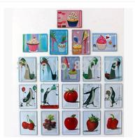 Free shipping 8x11cm Fruit, vegetable,cake,shoes MINI retro vintage metal painting Decor Retro Metal Poster