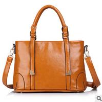 oil wax leather women handbags genuine leather fashion vintage 2014 brand designer real leather shoulder handbags bags for women