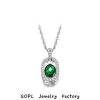 ROXI Jewelry 2014New Valentine's day Gift,swiss CZ Platinum plating luxury green tears necklace arrow heart cutting Necklace