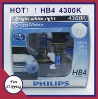 Hb4 German imports Freeshipping 100% Original Genuine silver warrior 4300K bright white light 9006hb4 car headlights  bulb 12v