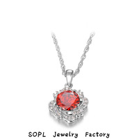 ROXI Jewelry 2014New  Fashion Necklace/Chrismas gift , Champagne Austrian crystal, red Engagement/Valentine's Day gift, Women