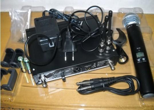 free shipping slx wireless microphone beta58 wireless karaoke microphone professional 3 pin(China (Mainland))