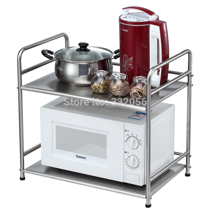 stainless steel microwave shelf kitchen shelf storage rack. Black Bedroom Furniture Sets. Home Design Ideas