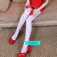 Women's Transparent  Black White Hose Female Tights Bow  Stockings Body stocking Pantyhose Hosiery
