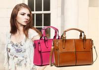 2014 vintage genuine leather handbags for women buckle handle waterproof brand designer ladies fashion leather bags ,retail