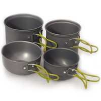 1 set ( 4pcs )outdoor camping Cookware Series DS201 sets of cups combination Cookware