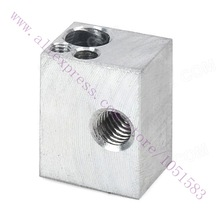 Universal 3D Printer Accessory Aluminum Heater Block for RepRap Ultimaker Kossel M6  Free Shipping
