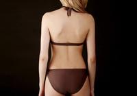 2014 Coffee color separated thin halter Bikini