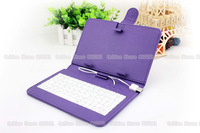 7'' Purple Portable mini Universal wireless folding bluetooth 3.0 keyboard Case cover for MID tablet PC