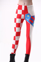 New 2014 Sexy World Cup Punk Legging Croatian Flag Digital Print Fitness Leggins Women Fashion Galaxy LEGGINGS Drop ShipS106-446