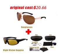 Male male sunglasses polarized sunglasses Men sunglasses sports aluminum magnesium sun glasses