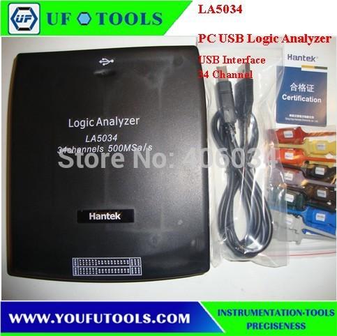 Hantek LA5034 PC USB Logic Analyzer 34CH Sample rate 500MHz Bandwidth 150MHz LA-5034(China (Mainland))