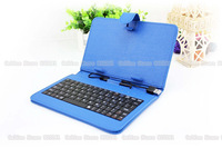 7'' Blue Portable mini Universal wireless folding bluetooth 3.0 keyboard Case cover for MID tablet PC