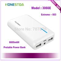HONESTDA Extreme  3066A 6600mah Protable  Fashion Power Bank Free Shipping