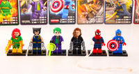 Decool Super Heroes The Avengers Joker Black Widow Spider-Man Captain America PHOENIX Wolverine X-Man, No Original Box