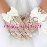Free shipping!1pair.Retail flower girl gloves,short gloves,white gloves.TOP QUALITY