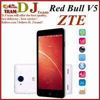 "Original ZTE V5 Red Bull V9180 MSM8926 Quad Core Dual-SIM WCDMA+GSM 5.0""HD 1G RAM+4GB ROM F2.2 13.0MP OTG Bluetooth 4.0 FM"