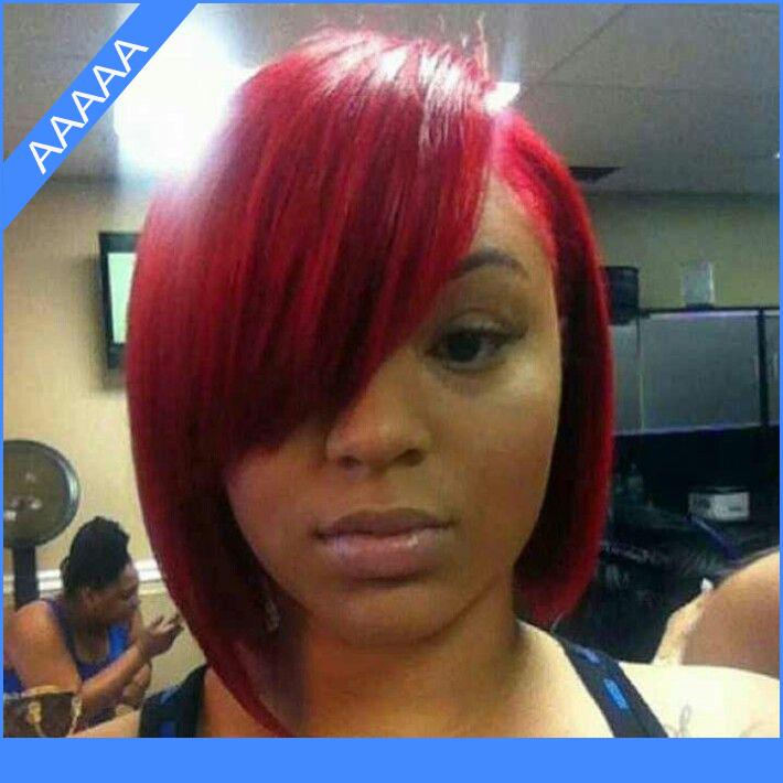short human hair wigs for black women glueless full lace bob wig ...