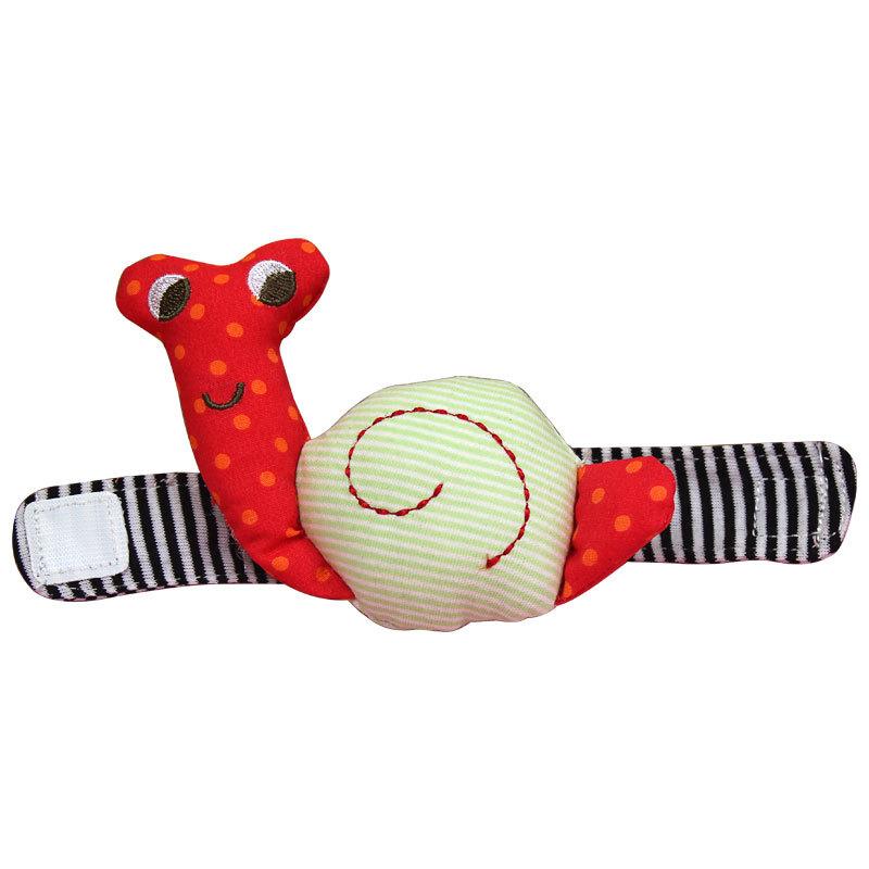 Frete Grátis Chegada Nova bonito infantil Boy Girl Chocalho do bebê Caracol Wrist Band Bell chocalhos Toy Baby 1 PC(China (Mainland))