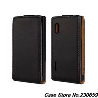 100% Genuine Leather For LG Optimus L5 E610 E612 E615 Pouch Wallet Cover,For LG Optimus L5 Flip Leather Case dt
