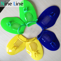 NEW 1 PC Children Training Aids GRILONG Snorkeling Fin Gloves Swimming Training Paddles Yellow /dark blue/green Color