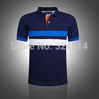 Free Shipping 2014 Classical Men's Short Sleeve Polo Shirts 100% Cotton  ,Men's Fashion Comfortable Cotton Golf  Polo Shirt