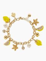 JC100 2014 Newest Women Fashion Brand Bracelets New York Lemon Tart Charm Bracelet Cute Fruit Pendant Bracelets No Min Order