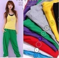 dance clothes fitness wear plus size hip hop lovers pants hiphop hip-hop pants loose casual trousers yoga pants candy color 2014