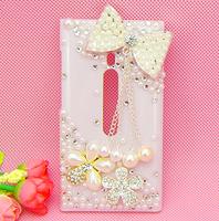 For Nokia Lumia 800 diamond mobile phone case - Tassel bow