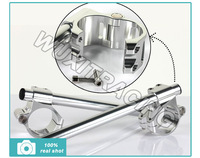 50MM CNC Split Clip On Ons Handle Bar For Monster 696 1100 S4R S2R 695 620 1000 400 800 900 750  Silver