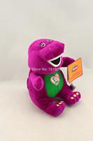 "5PC/Lot 9"" /21cm Purple Dinosaur Barney Plush Toy The Dinosaur Good Toys Doll for children Kids Gift with Music Barney Dinosaur"