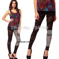knit Bandage Cross Slim Sexy women black Leggings Wholesale cheap Free shipping 2014 Casual fashion 6 size Trousers pants HDY85