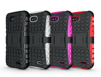 Mix Color TPU&PC Heavy Duty armor stand case for lg lg L90 D410 D405 L90 Dual Free Shipping 1pcs