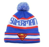 Hot Sale Brand Style Superman Beanie For Men Women Wool Knitted Caps Casual Skullies Hip-hop Hat London Boy Girl FY123-2