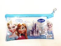 10pcs/lot PVC Transparent Frozen Pencil case & pen bag & frozen stationery kids baby gift