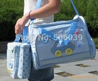 High quality cost performance Waterproof mummy bag big bag + small bag+ urine pad + milk bottle car print mother bags on sale