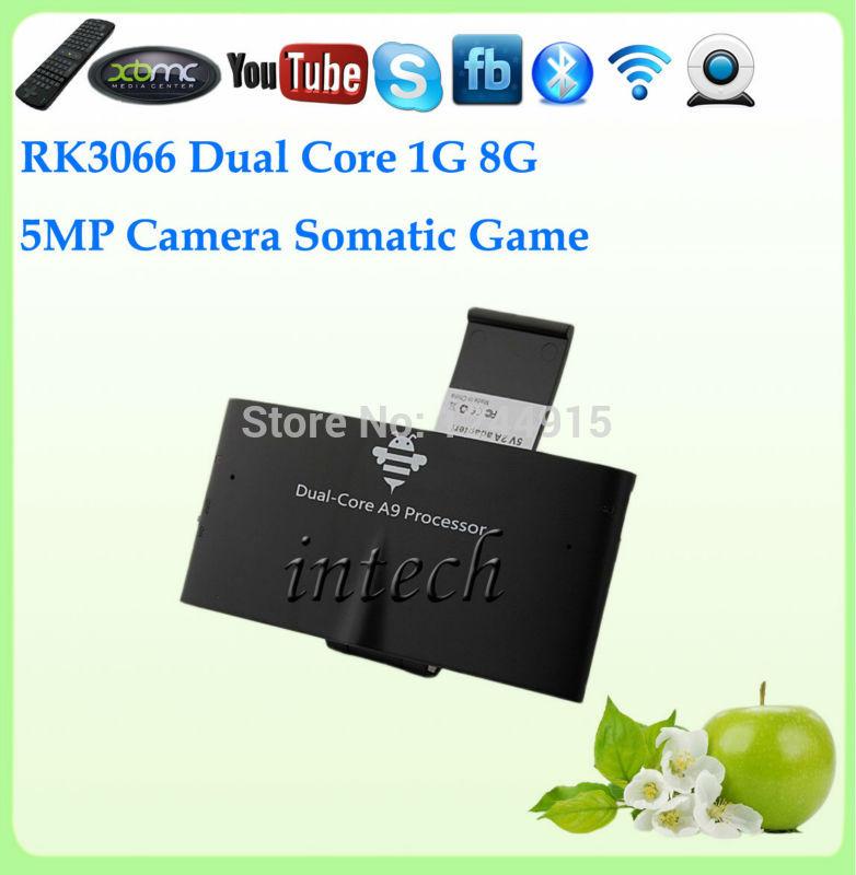 Smart TV BOX MK818 RockChip 3066 Dual Core Living Room Computer With 5.0 MP Camera BT Mic 8GB 1GB Android 4.2 Cheap Price 5PCS(China (Mainland))