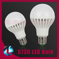 5pcs/Lot E27 220V 230V 240V 3w 5w 7w 9w 10w 12w 15w SMD 5730 Led Bulb Light Energy Saving Spotlight Lamp