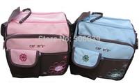 free shipping hotsale mummy bag baby receive bag  inclined shoulder bag Multi-function fashion diaper bag