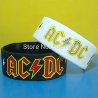 AC DC silicone wristband,free shipping