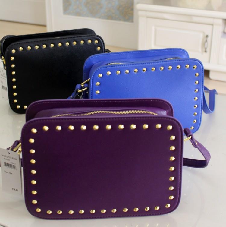 2 ste e normic ma en fashion cross rivet single shoulder bag(China (Mainland))
