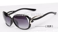 Hot Selling  Ms. 2014 new fashion retro glasses sunglasses sunglasses yurt metal parts