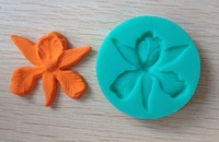 1PCS Gardenia Flowers shaped Chocolate Candy Jello 3D silicone Mold soap Mould Cartoon Figre/cake tools