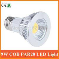 9W COB PAR20 E27 LED Light Warm White Cool White LED Spotlight lamps Par 20 led ceiling for home bedroom illuminate freeshipping