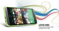 Original Ultra-thin 0.7mm Love mei Hippocampal Buckle Metal Bumper Aluminum case For HTC ONE M8 Free shipping