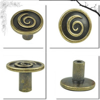 Free Shipping  30mm Cabinet Handles Bronze Antique Closet Cupboard Wardrobe European Style Pulls Knobs