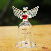 Hot sale Creative Crystal Glass Praying Angel Wind Chimes Birthday Gift Birthday Gift Wedding Gift Free shipping